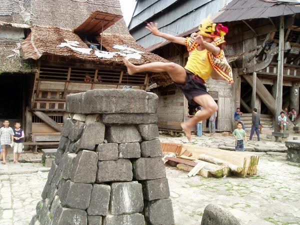 Kemampuan Lompat Batu bagi Pemuda suku nias pada masa itu, juga ...