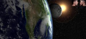 Gambar 2. Sejajarnya bumi dan matahari